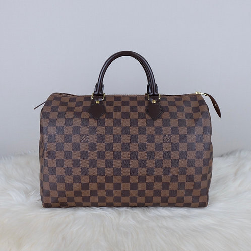 LOUIS VUITTON SPEEDY 35 DAMIER EBENE - SP0122