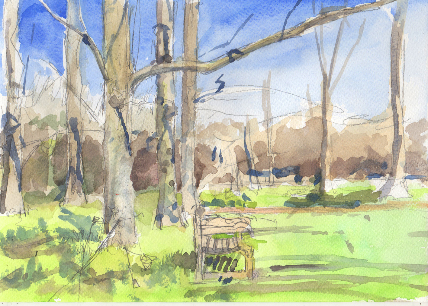Sketch in Kew Gardens