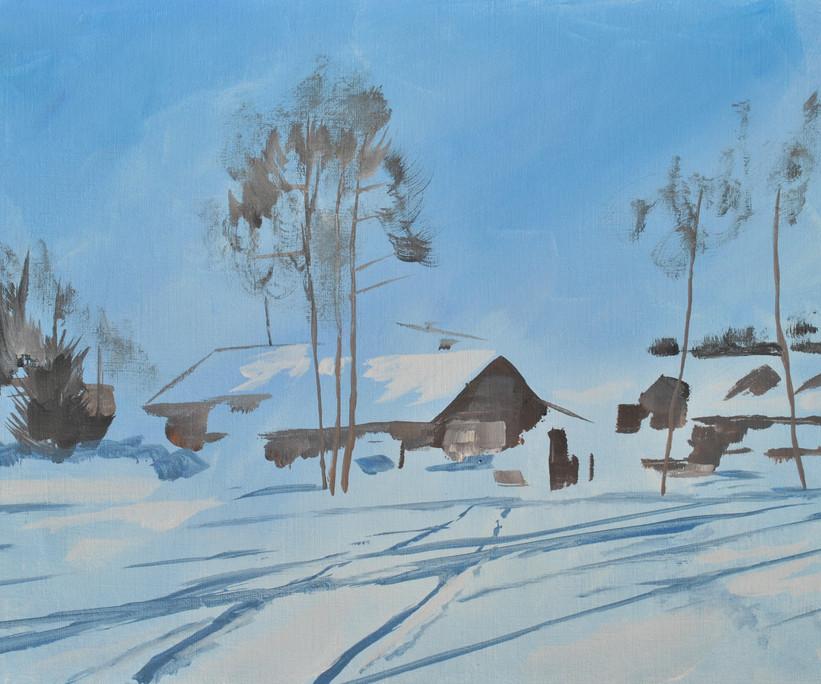 Farm in Snow - Poland