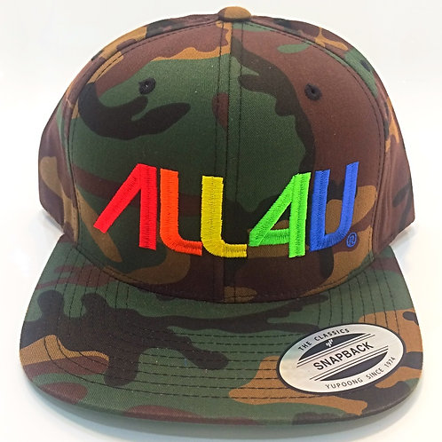 Camo Crayola Colors Embroidered SnapBack