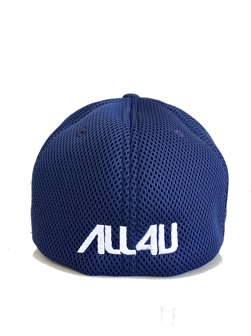 Navy Blue Flex Fit Mesh Logo on back