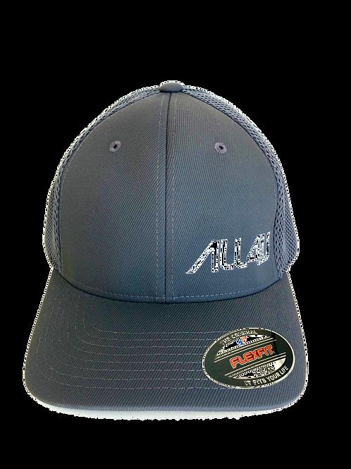Black Flex Fit Mesh with Gray Logo Corner