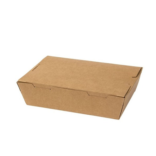 Kraft food box (L) - 195x140x65mm (200pcs/carton)