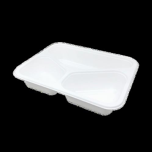 Fiber tray with lamination 3-comp - 227x176x45mm (320pcs/carton)