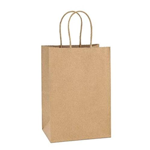 Kraft Paper Bag (Twisted Handle) - 210x140x270mm  (200pcs/carton)