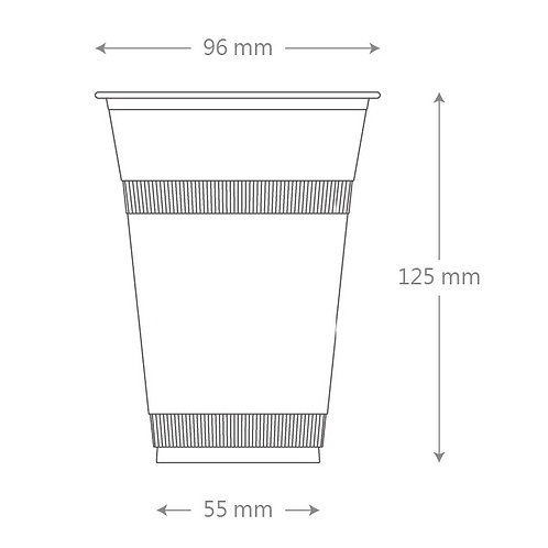 16oz PLA Clear Cup - 96mm  (1000pcs/carton)