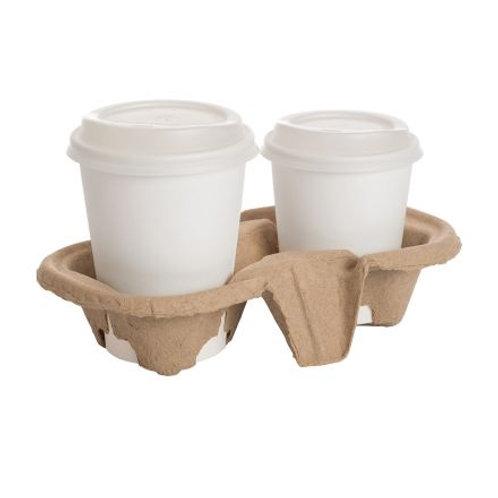 2-Cup Fiber Tray  (200pcs/carton)