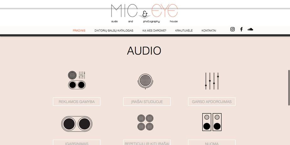 MIC&EYE website