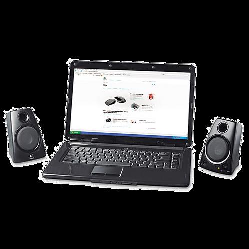 Z130 Compact Laptop Speakers, 3.5mm Jack, Black