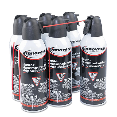 Compressed Gas Duster, 6 10oz Cans-Pack
