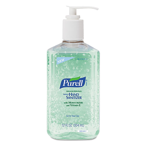 Instant Hand Sanitizer w-Aloe, 12-oz. Pump Bottle
