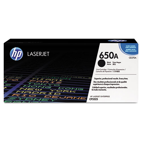 CE270A (HP 650A) Toner Cartridge,13500 Page,Black