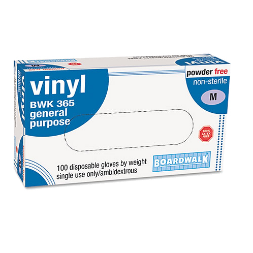 General-Purpose Vinyl Gloves, Latex-Free, 4 mils
