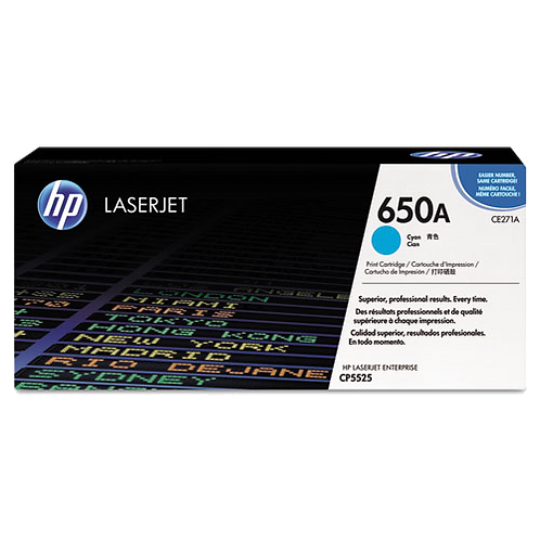 CE271A (HP 650A) Toner Cartridge, 15000 Page,Cyan