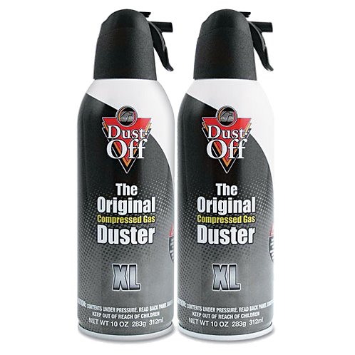 Disposable Compressed Gas Duster,10oz Cans, 2-Pack