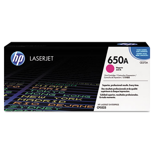 CE273A (HP 650A) Toner, 15000 Page-Yield, Magenta