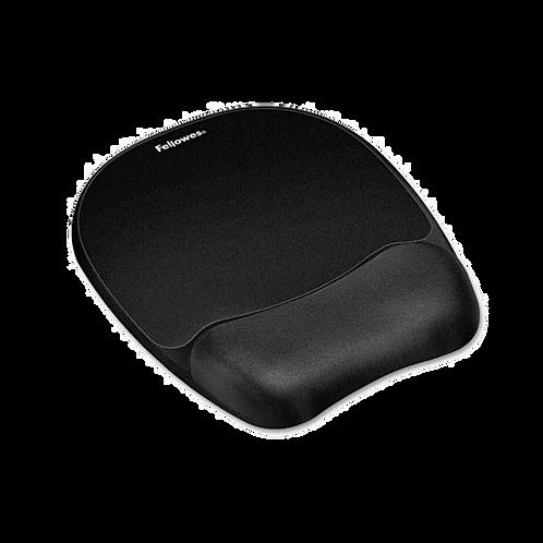 Mouse Pad w-Wrist Rest, Nonskid Back, 8 x 9-1/4, B