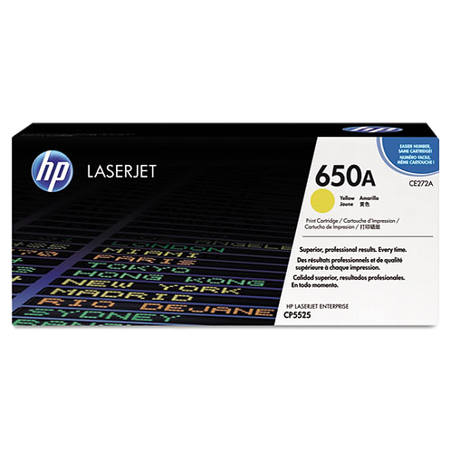 CE272A (HP 650A) Toner Cartridge,15000 Page,Yellow
