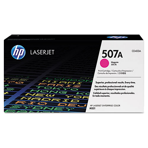 CE403A (HP 507A) Toner, 6,000 Page Yield, Magenta