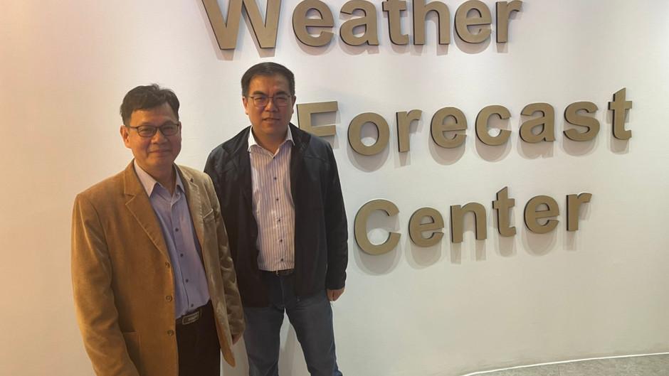 天氣風險團隊首次拜訪氣象局預報中心交流