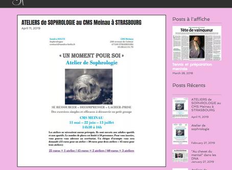 Prochains ateliers de sophrologie de Sandra Holtz