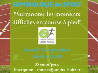 Atelier sophrologie du sport animé par Sandra Holtz