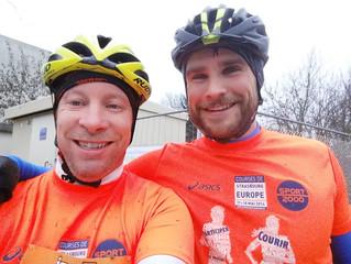 Tugdual Jégou et Thomas Fritz nos kinés participent à leur premier bike and run de 18 km à  Vendenhe