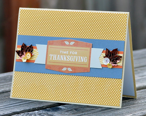 Thanksgiving Fall Colors Card