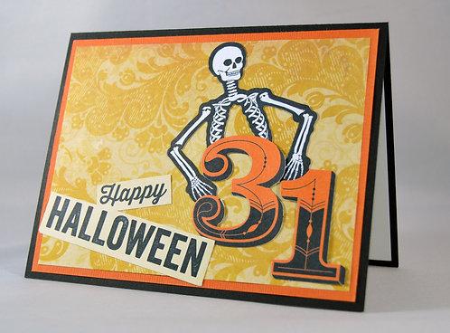 Halloween Skeleton Card