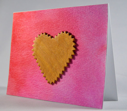 Pink and Red Heart Card