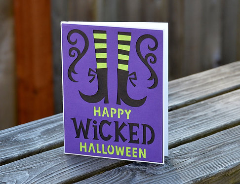 Witch Legs Halloween Card