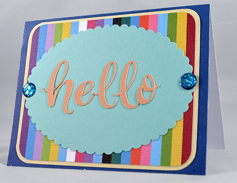 Multi-Color Hello Card
