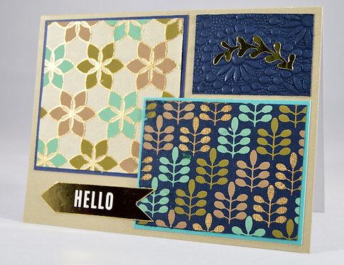 "Floral ""Hello"" Card"