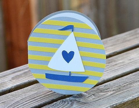 Sailboat Love Circle Card
