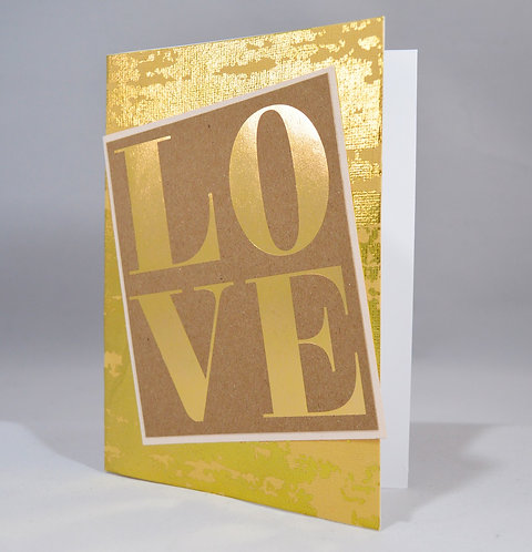 Gold Shimmery Love Card