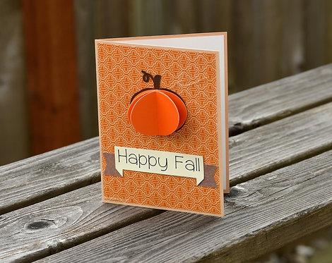 Happy Fall Pumpkin Card