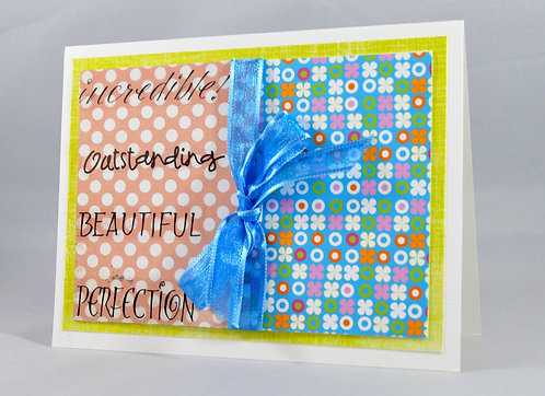 Polka Dot and Ribbon Card
