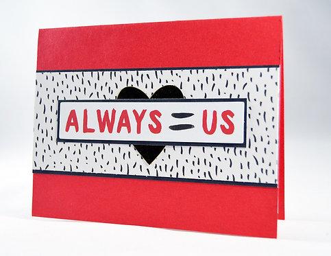Red, White & Black Love Card
