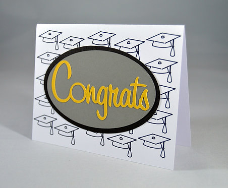 Congrats Graduation Cap Card