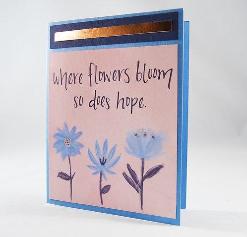 Floral Encouragement Card