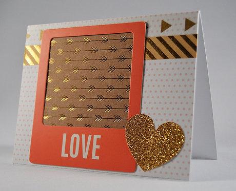Gold Love Card