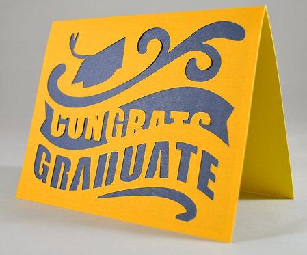 Blue & Yellow Graduation Card
