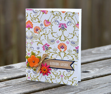 Bright Floral Wedding Card