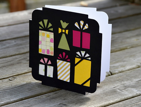 Square Birthday Gifts Card