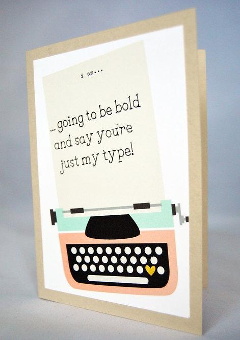 Typewriter Pun Card