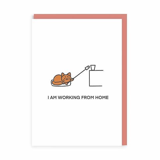 WFH Cat Card