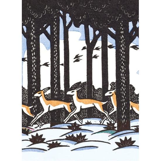 Woodland Deer Christmas Card Pack
