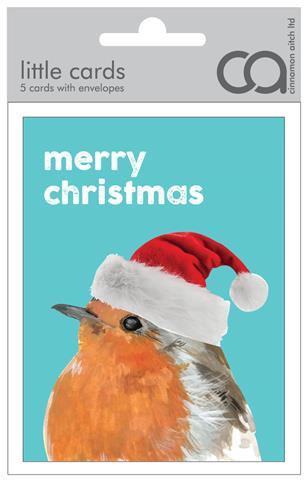 Merry Christmas Robin Mini Card Pack