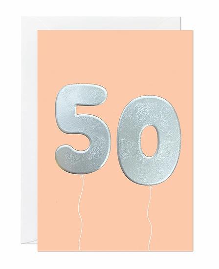 50 Balloon Card