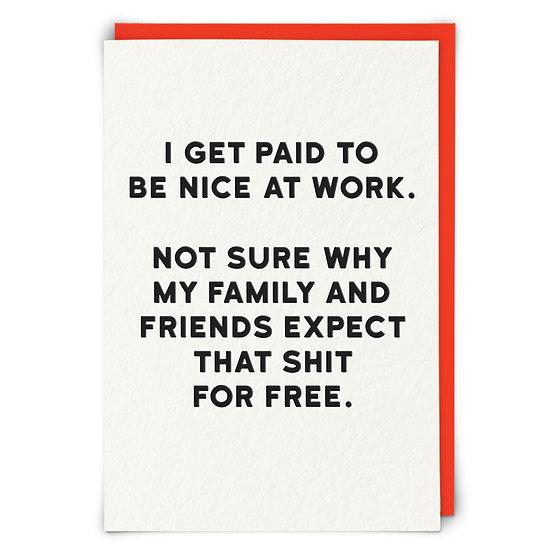 Nice at Work card